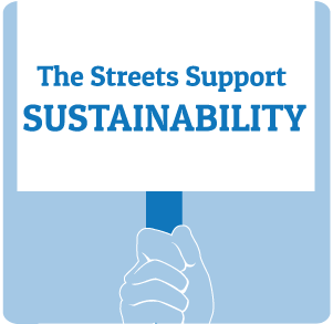 The Streets Support Sustainability
